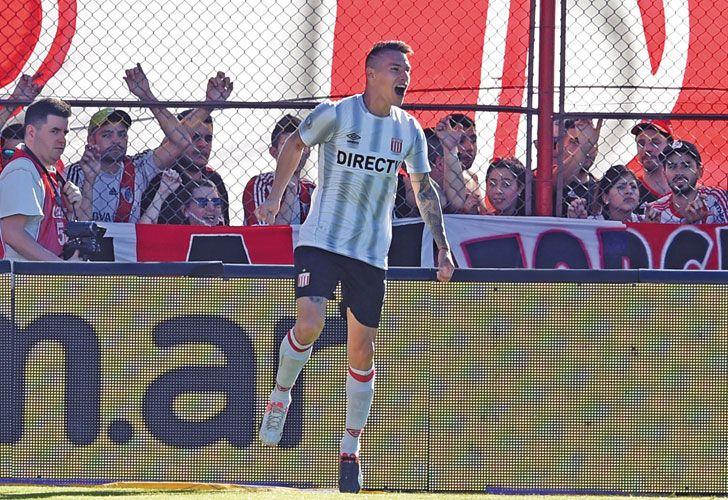 Auzqui. Con cuatro tantos, es el goleador de Estudiantes.