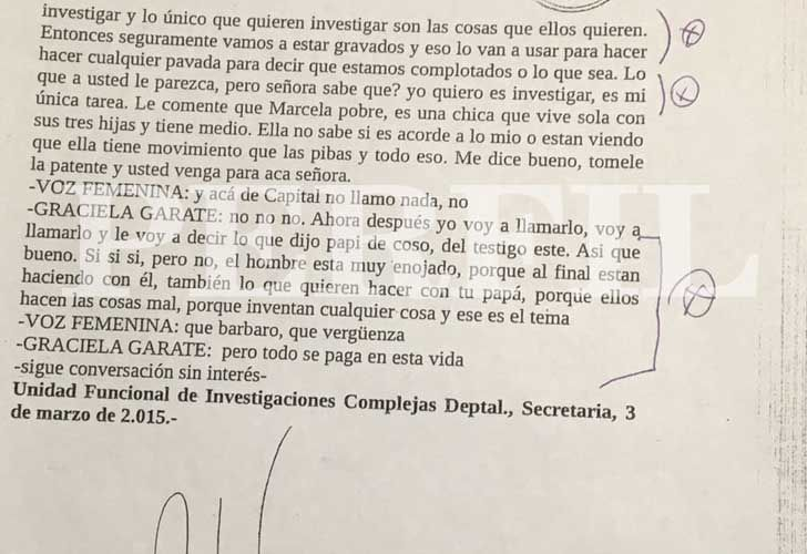 Las conversaciones telefónicas entre el fiscal Palacios y la mujer del condenado Gorgonio Diaz, advirtiendo el presunto entramado de los fiscales de San Isidro.