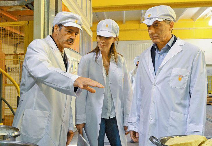Alfajores. El presidente y Vidal visitaron la planta de Havanna.