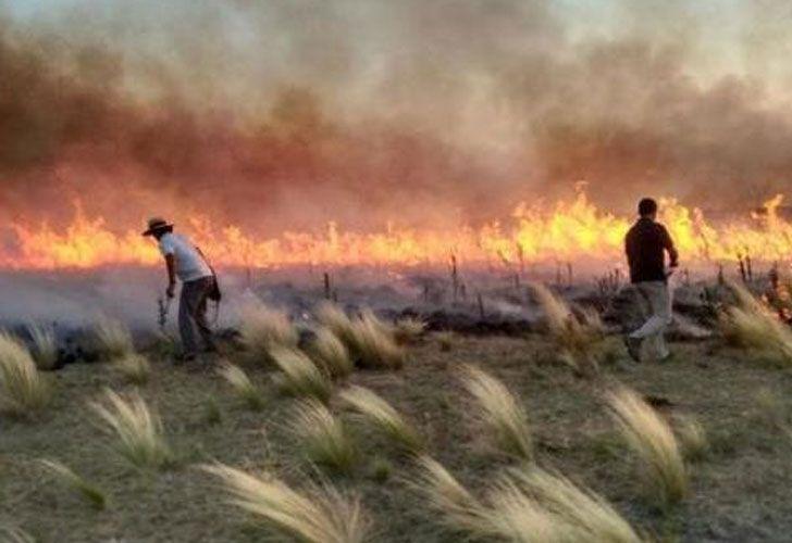 Incendio en La Pampa
