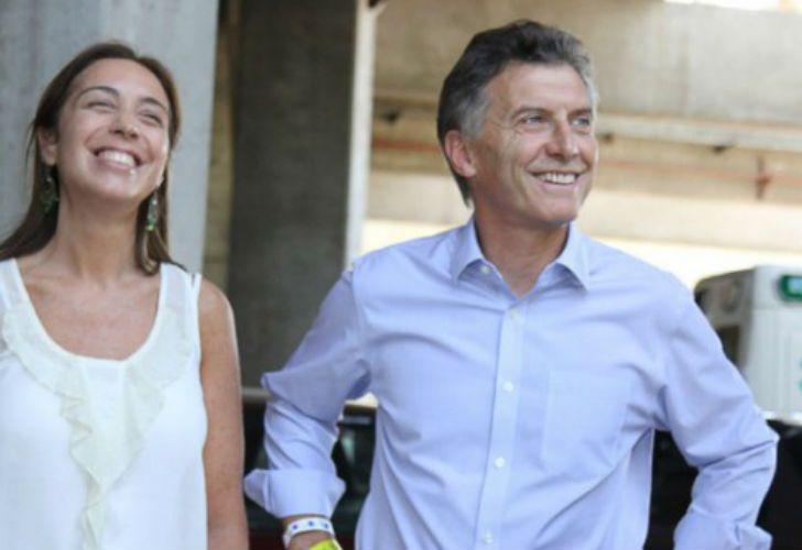 La gobernadora bonaerense, María Eugenia Vidal, y el presidente Mauricio Macri.