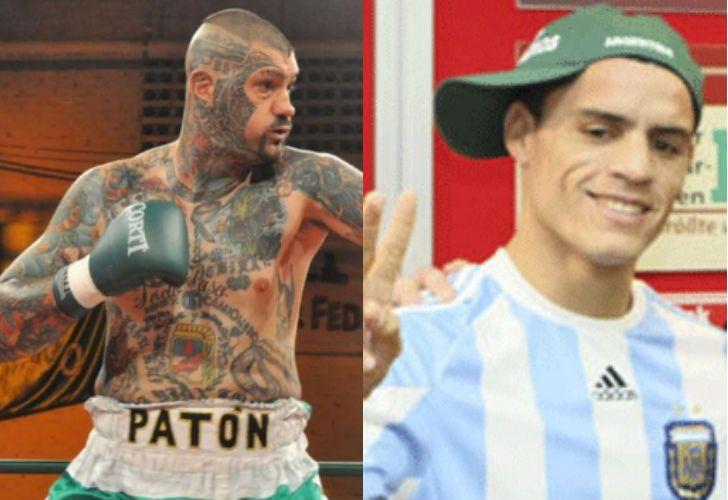 Basile y Martínez, dos boxeadores de la escudería Moyano.