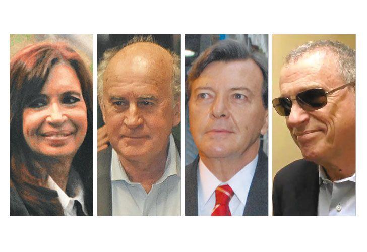Cuarteto. Cristina encomendó a Parrilli y Milani la Inteligencia. En la Justicia, atribuyen a Stiuso el avance judicial contra los K.