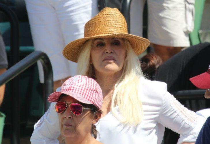 Susana Giménez alentó a Del Potro en Miami