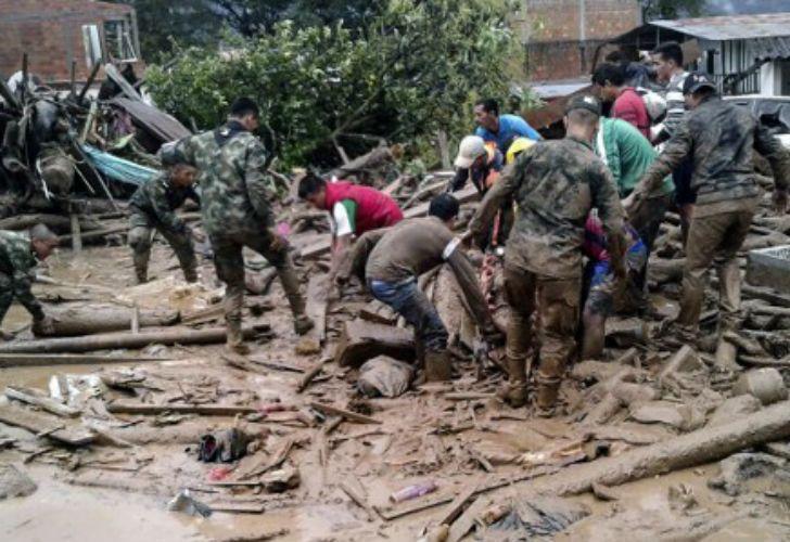 Avalancha en Colombia deja más de 110 muertos.