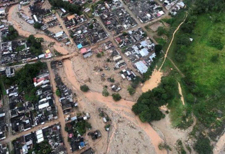 Un alud en Colombia dejó más de 110 muertos.