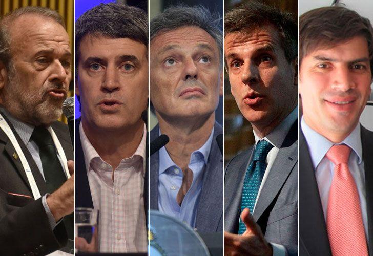 Eduardo Amadeo, Alfonso Prat Gay, Francisco Cabrera, Martín Redrado y Horacio Reyser