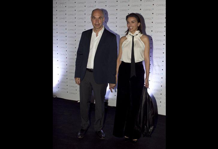 Horacio Rodríguez Larreta, jefe de Gobierno, y Bárbara Diez.