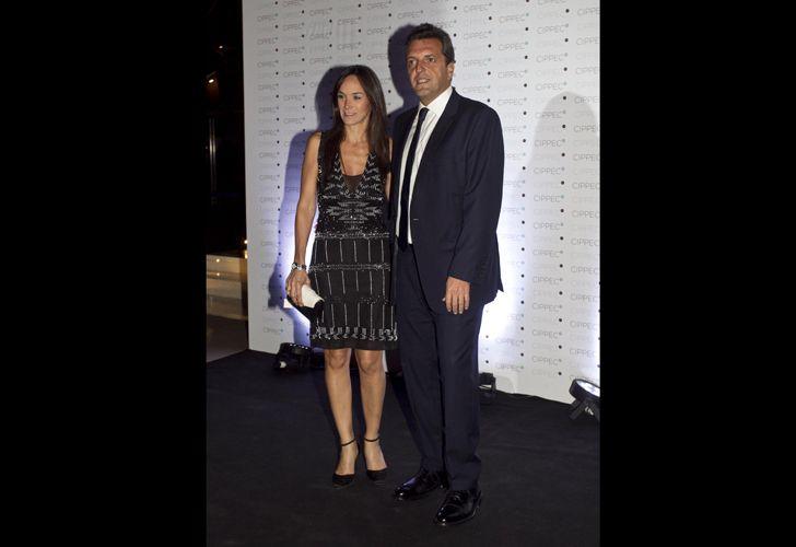 El diputado Sergio Massa y Malena Galmarini.