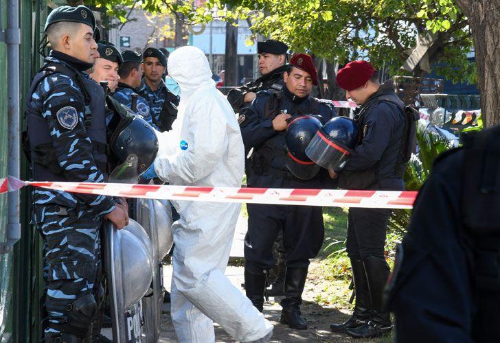 HALLAZGO. El cuerpo de Araceli apareció en una casa de la calle Alfonsina Storni, en la localidad de Loma Hermosa.