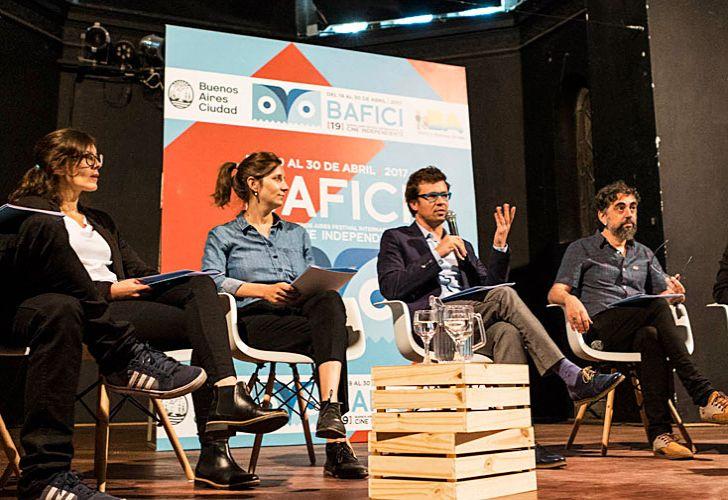 En escena. Parte del jurado que anunció ayer a todos los ganadores del festival de Buenos Aires.