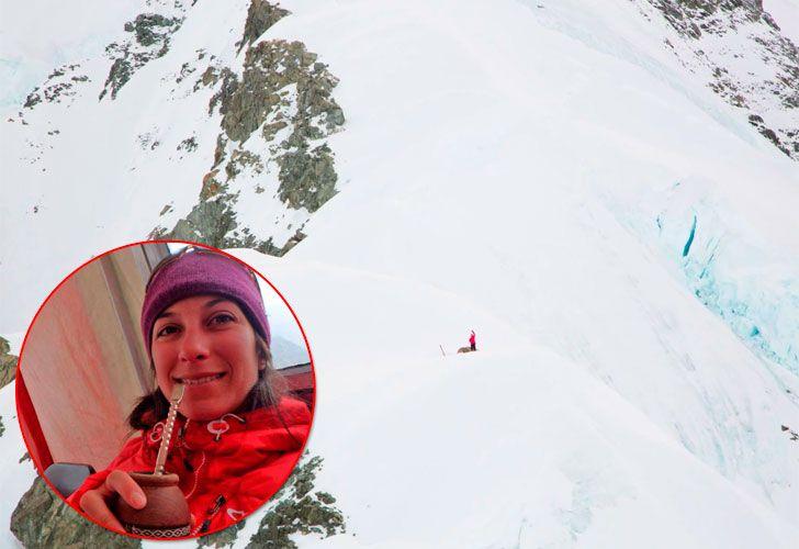 Natalia Martínez en el monte Logan