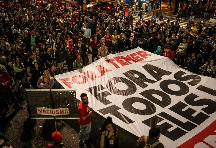 Los brasileños se volcaron a las calles para pedir la renuncia de Michel Temer