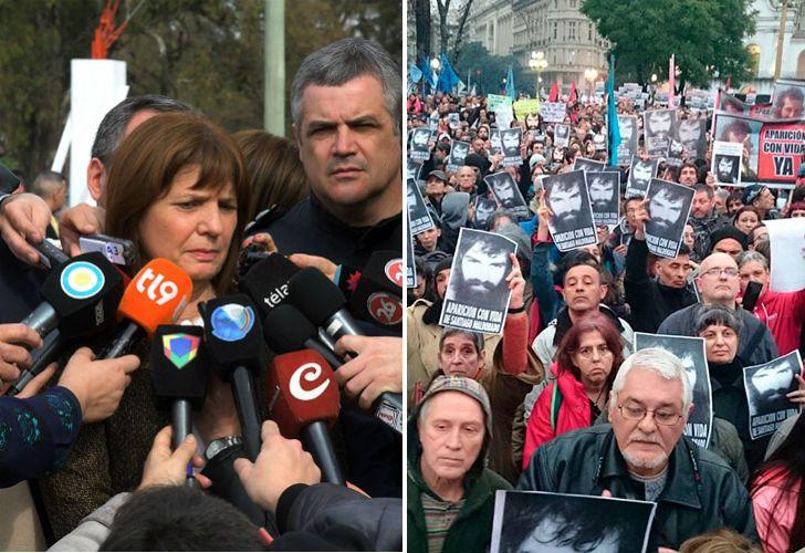 La ministra de Seguridad, Patricia Bullrich, volvió a referirse a la desaparición de Santiago Maldonado.