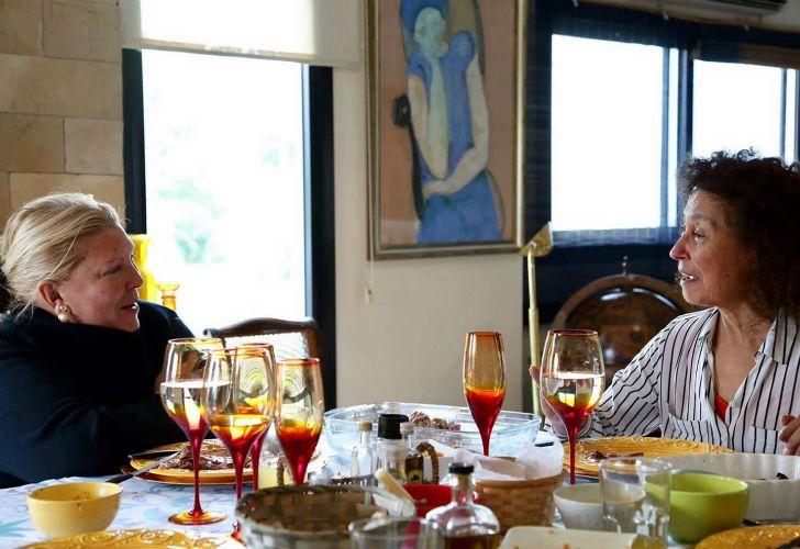 Elisa Carrió almorzó además con miembros de su familia y una amiga.