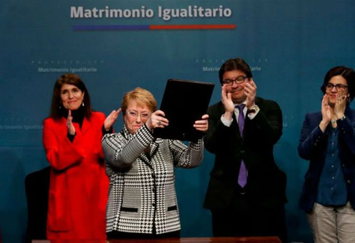 """It cannot be that old prejudices are stronger than love,"" said Bachelet."