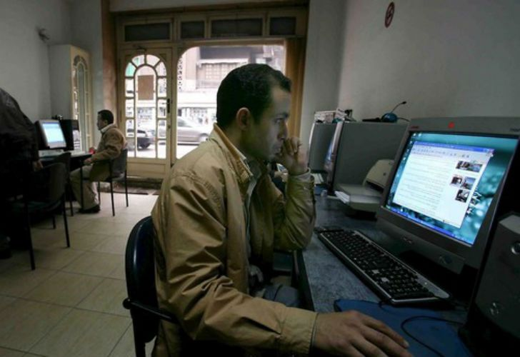 More than 400 websites were blocked in Egypt.