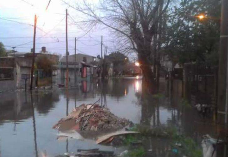 Inundaciones en Quilmes.