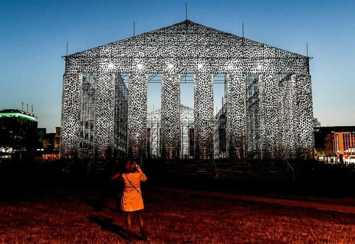 Marta Minujín's majestic Parthenon of Books in Kassel at documenta14.