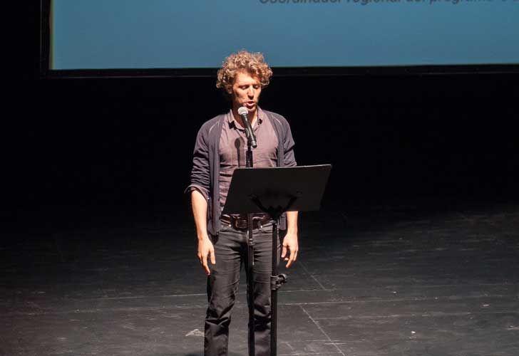 ProHelvetia presentó el programa de intercambio cultural. Benjamin Seroussi, coordinador regional del Coincidencia.