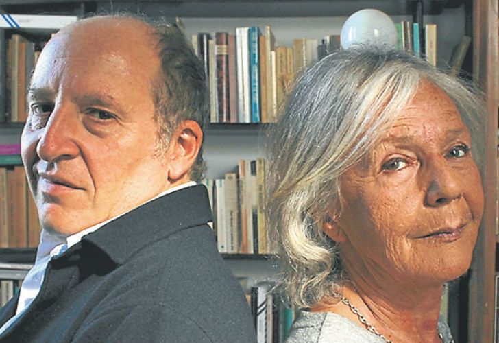 Composer Martín Bauer (left) and author Beatriz Sarlo.
