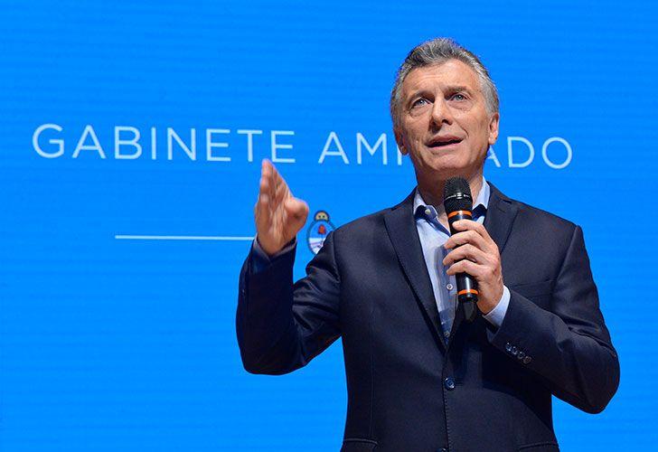 El presidente Mauricio Macri encabezó esta mañana una reunión de Gabinete ampliado en el CCK