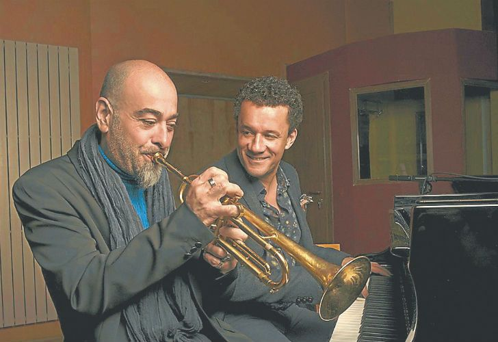 "The ""Terramondo"" partnership of pianist Jacky Terrasson and trumpeter/flugelhornist Stephane Belmondo."
