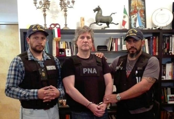 Former vice-president Amado Boudou was arrested in his Puerto Madero apartment on November 3, 2017.