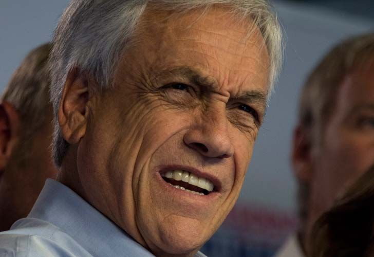 Chilean presidential candidate Sebastian Piñera, pictured during a press conference in Santiago de Chile on Monday. Billionaire conservative Piñera and leftist former TV journalist Alejandro Guillier will contest a runoff second round in Chile's presidential election next month.