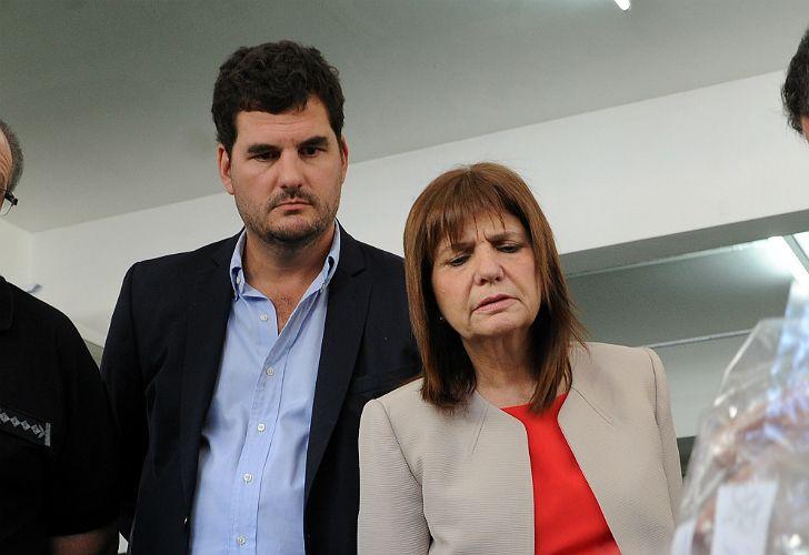 Secretary Eugenio Burzaco and Minister Patricia Bullrich.