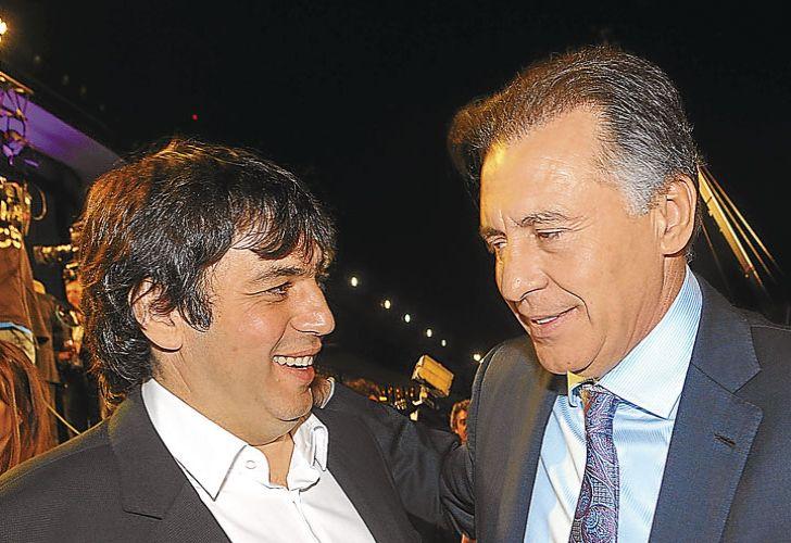 Fabián de Sousa y Cristóbal López. El freno judicial a la venta de Indalo los pone en más problemas.