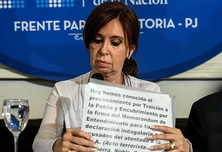 CFK addressed the media on Thursday December 7, 2017 after judge Claudio Bonadio requested that Congress stip her of her immunity.