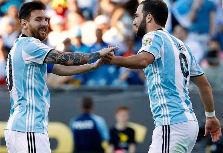 Messi and Higuain.