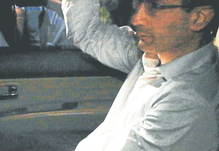 Marcelo Odebrecht, arrives at his house in São Paulo, Brazil, after being released from prison in the southern city of Curitiba.
