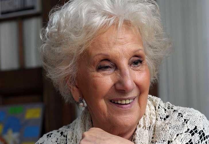 President of the Grandmothers of Plaza de Mayo, Estela Barnes de Carlotto.