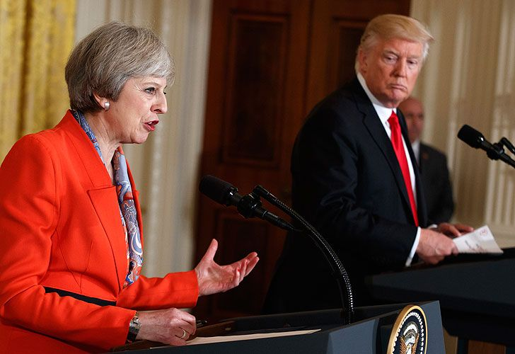 Theresa May and Donald Trump.