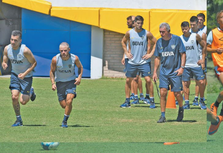 Players from Estudiantes and Boca Juniors are put through their paces this week as training for most clubs resumed, ahead of the summer mid-season friendly matches.