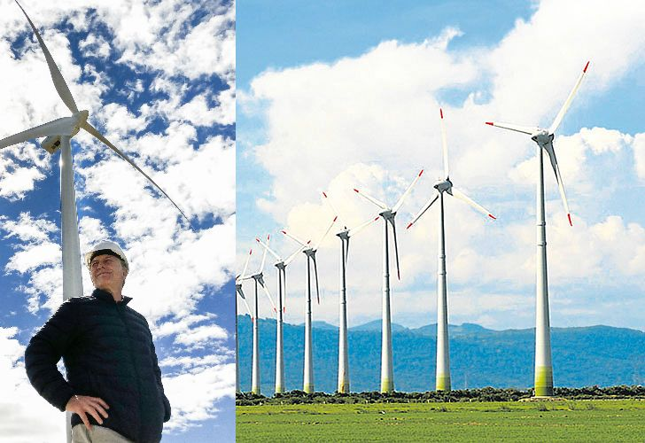 As his government promotes growth in renewable energies, President Maurcio Macri's family has made big profits in investments in wind farms.