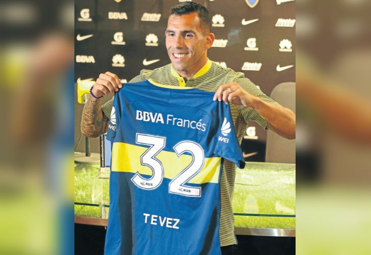 Carlos Tevez was unveiled as Boca's new signing this week.