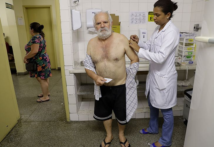 The World Health Organization announced Tuesday that it now considers all of Sao Paulo state at risk for yellow fever, recommending that all international visitors to the state be vaccinated.