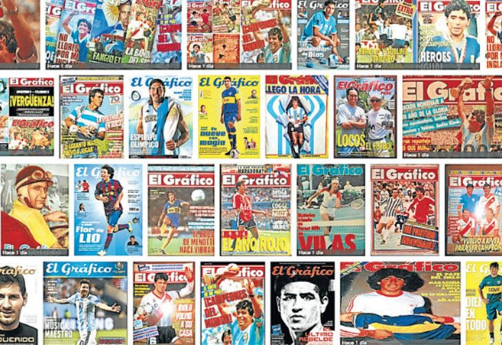 A selection of El Gráfico's front-pages from over the years.