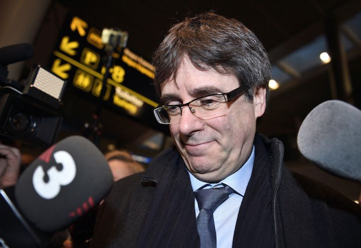 Ousted former prime minister of Catalonia Carles Puigdemont arrives in Copenhagen this morning.