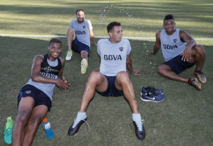From left to right: Wilmar Barrios, Sebastián Pérez, Edwin Cardona and Frank Fabra.