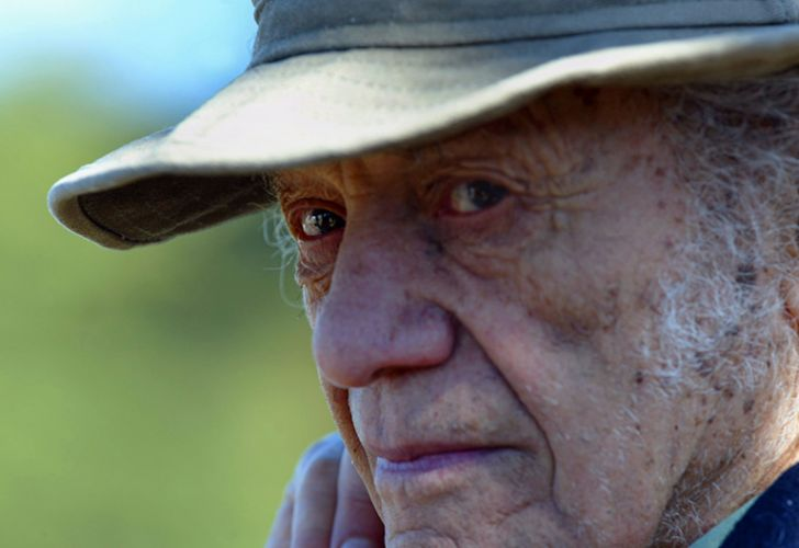 Chilean poet Nicanor Parra pictured in Isla Negra, Chile in July 2004, during a celebration of the birthday of Chilean writer Pablo Neruda. Renowned Chilean writer Nicanor Parra, who invented the