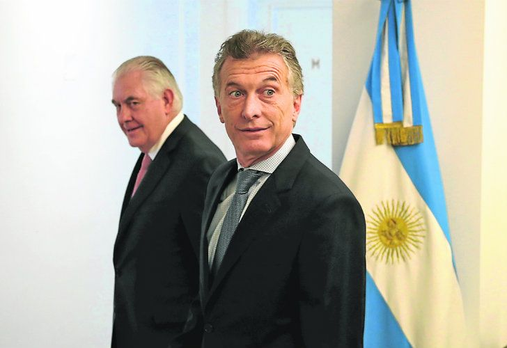 President Mauricio Macri meets with US Secretary of State Rex Tillerson at the Olivos presidential residence earlier this week.