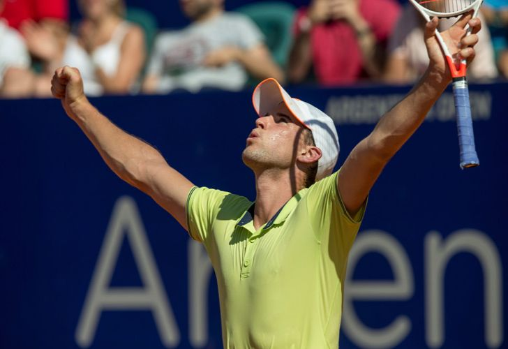 Dominic Thiem celebrates defeating Aljaz Bedene during the ATP Argentina Open final match in Buenos Aires on Sunday.