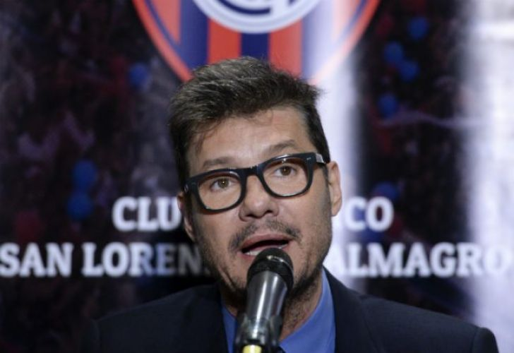 Marcelo Tinelli, vice-president of San Lorenzo and well-known sports television host.