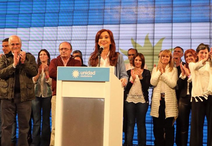 Former president Cristina Fernández de Kirchner campaigning for the October 2017 mid-term elections.