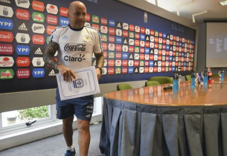 Argentina national team head coach Jorge Sampaoli.