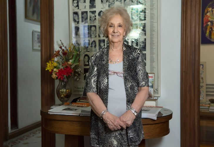 Estela de Carlotto, the president of the Grandmothers of Plaza de Mayo.